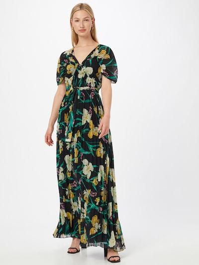 Forever Unique Kleid in gelb / grün / schwarz / weiß, Modelansicht