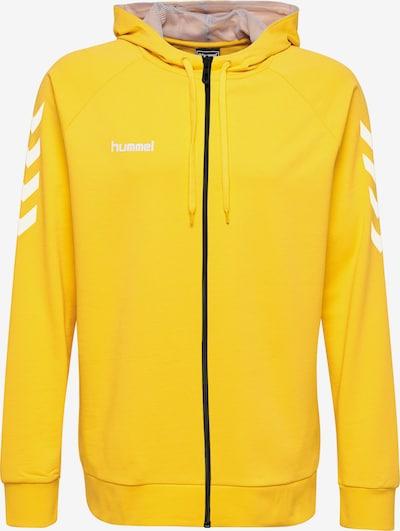 Hummel Sportsweatjacke in gelb / weiß, Produktansicht