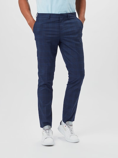 SELECTED HOMME Pleat-front trousers in Dark blue, View model
