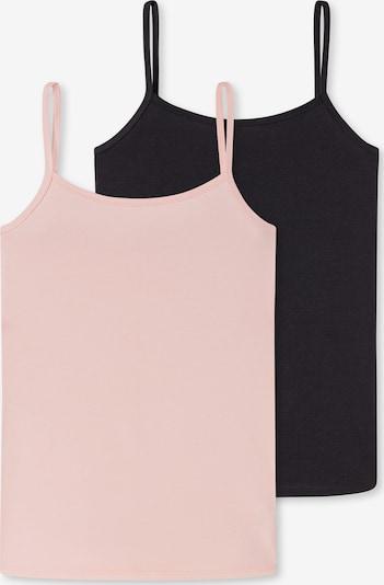 SCHIESSER Unterhemd in hellpink / schwarz, Produktansicht