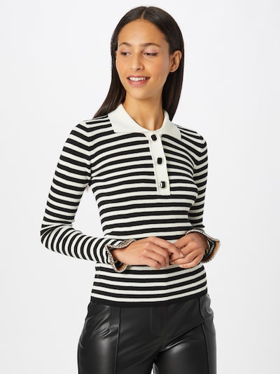 PINKO Pullover 'VIN SANTO' in orange / schwarz / weiß, Modelansicht