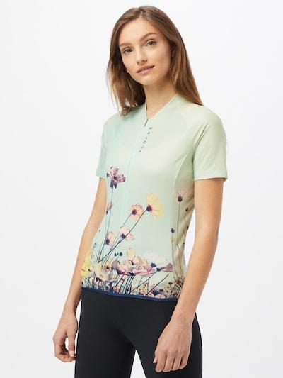 Maloja Funktionsshirt 'Lorbeere' in mint / mischfarben: Frontalansicht