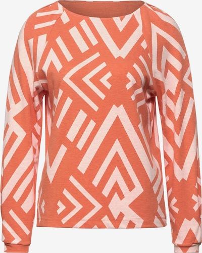 STREET ONE Shirt in de kleur Sinaasappel / Wit, Productweergave