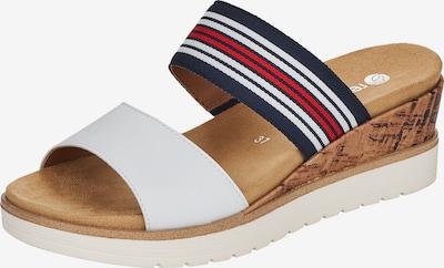 REMONTE Pantolette in navy / rot / weiß, Produktansicht