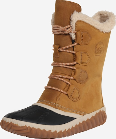 SOREL Snowboots 'Out 'n about plus' i brun / sort, Produktvisning