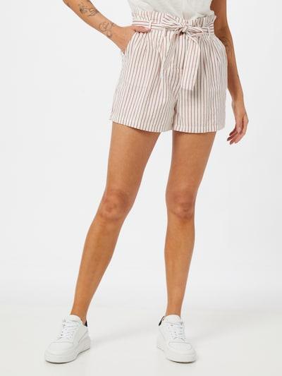 VERO MODA Shorts 'HELI' in rostrot / weiß, Modelansicht