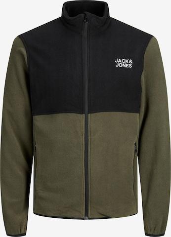 JACK & JONES Fleece jacket in Green