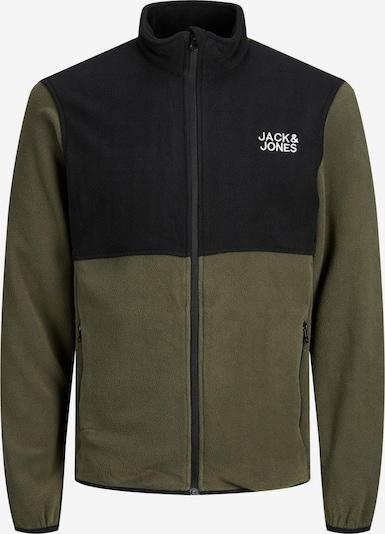 Jachetă  fleece JACK & JONES pe kaki / negru / alb, Vizualizare produs