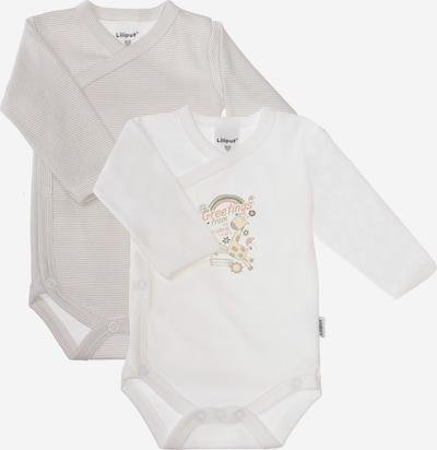 """LILIPUT Wickelbody, langarm (2er Pack) """"Giraffe"""" in weiß, Produktansicht"""