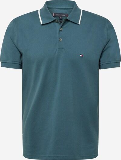 TOMMY HILFIGER Poloshirt in blau / taubenblau / rot / weiß, Produktansicht
