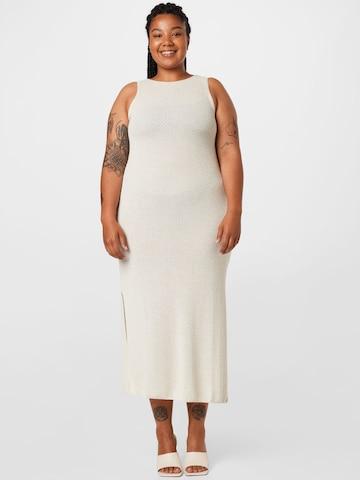 NU-IN Plus Gebreide jurk in Wit