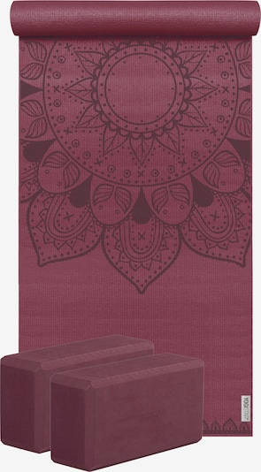 YOGISTAR.COM Yoga-set Starter Edition - Harmonic Mandala (yogamatte + 2 Yogablöcke) in rot, Produktansicht