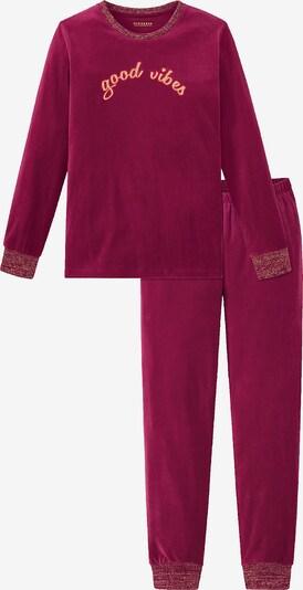 SCHIESSER Schlafanzug in pastellorange / weinrot, Produktansicht