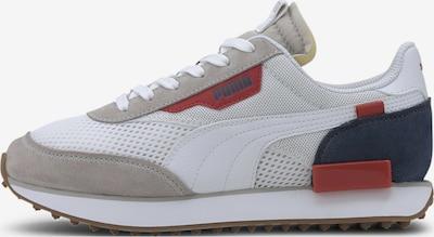 PUMA Baskets en gris / rouge / blanc, Vue avec produit