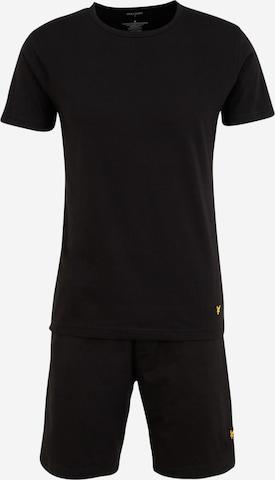 Lyle & Scott Pajama short 'CHARLIE' in Black