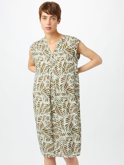 Cartoon Kleid in dunkelbraun / khaki / weiß, Modelansicht