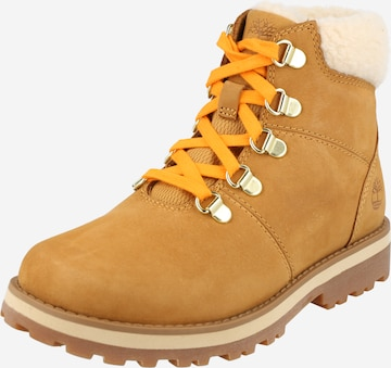 TIMBERLAND Snow Boots 'Courma Kid WL Hiker' in Brown