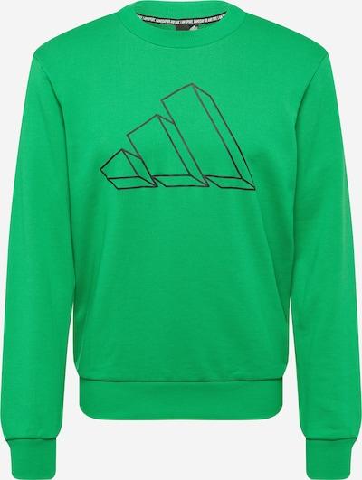 ADIDAS PERFORMANCE Sportsweatshirt in grasgrün / schwarz, Produktansicht