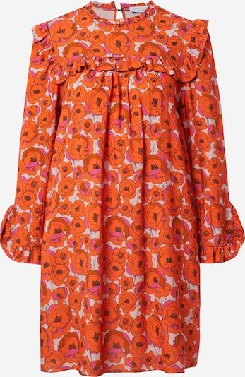 Hofmann Copenhagen Kleid 'Julia' in orange / pink / weiß, Produktansicht