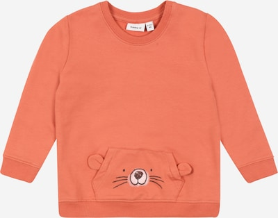 NAME IT Sweatshirt 'BISUM' in apricot / schwarz / weiß, Produktansicht
