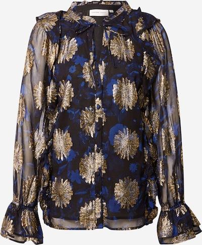 Fabienne Chapot Bluse in kobaltblau / gold / schwarz, Produktansicht