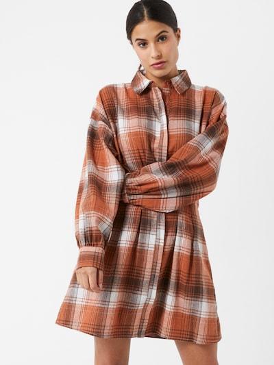 Abito camicia Missguided di colore marrone / rosso ruggine / bianco, Visualizzazione modelli
