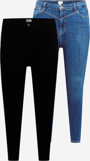 River Island Plus Дънки в синьо / черно, Преглед на продукта