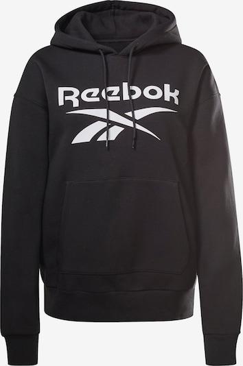 REEBOK Hoodie in schwarz / weiß, Produktansicht