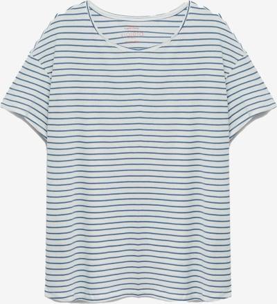 VIOLETA by Mango Shirt 'Easy' in de kleur Duifblauw / Wit, Productweergave
