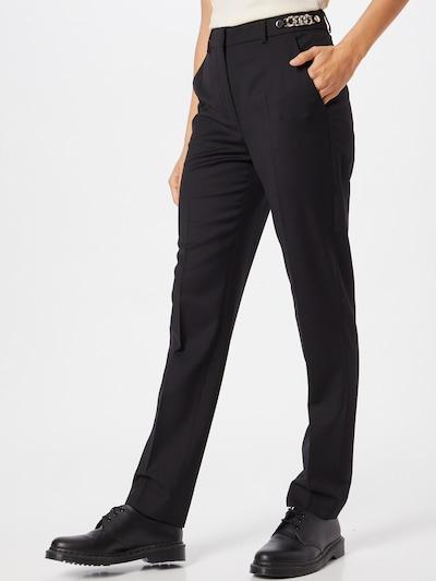 Pantaloni cu dungă The Kooples pe negru, Vizualizare model