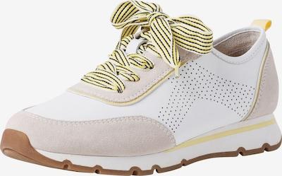 JANA Sneaker in hellbeige / pastellgelb / weiß, Produktansicht