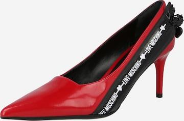 Love Moschino Официални дамски обувки в червено