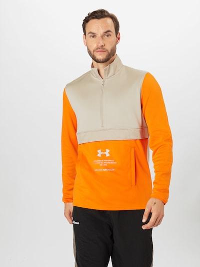UNDER ARMOUR Sportsweatshirt 'Storm' i cappuccino / orange: Frontvisning