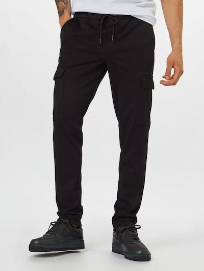 JACK & JONES Pantalón cargo 'WILL' en negro, Vista del modelo