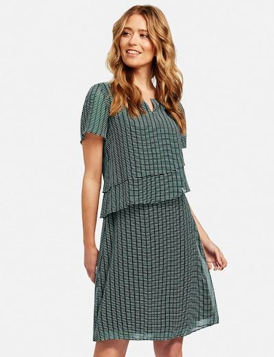 GERRY WEBER Kleid in dunkelgrün / weiß, Modelansicht