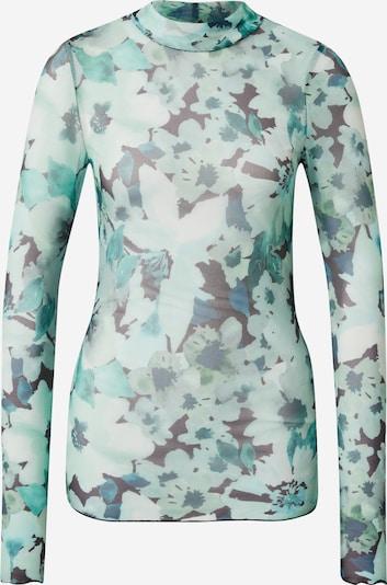 Moves Tričko 'Filana' - pastelová modrá / smaragdová / černá, Produkt