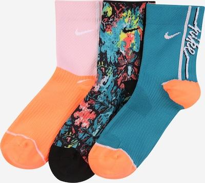 NIKE Sportsocken  'Nike Everyday Plus' in petrol / orange / pastellpink / rot, Produktansicht