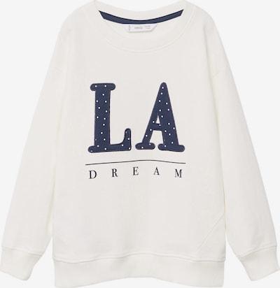 MANGO KIDS Sweatshirt 'BISOUS' in de kleur Navy / Wit, Productweergave