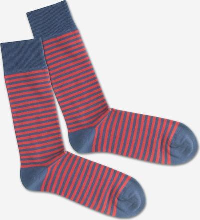 DillySocks Socken 'SS20-04 Red Sky Liner' in blau / rot, Produktansicht