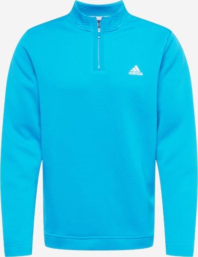 adidas Golf Sportsweatshirt en aqua / blanc, Vue avec produit