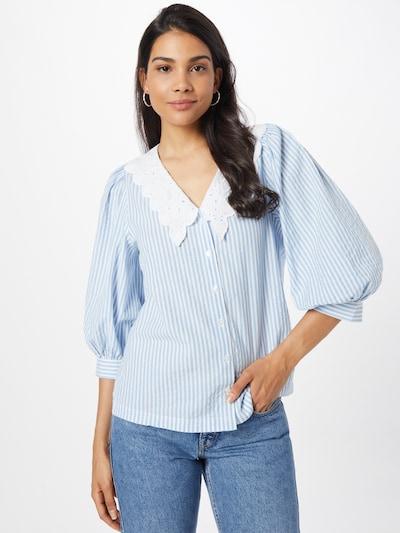 NEW LOOK Chemisier 'SIENNA' en bleu clair / blanc, Vue avec modèle