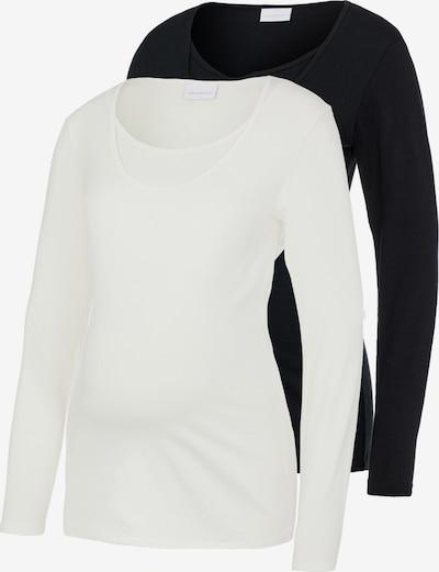 MAMALICIOUS T-shirt 'Lea' en noir / blanc, Vue avec produit