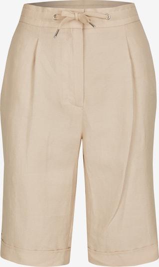 Lecomte Kurze Hose in Uni-Design mit Beinkrempeln in hellbeige, Produktansicht