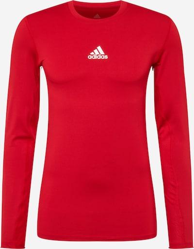 Sportiniai marškinėliai iš ADIDAS PERFORMANCE, spalva – vyno raudona spalva / balta, Prekių apžvalga