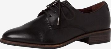 TAMARIS Lace-up shoe in Black
