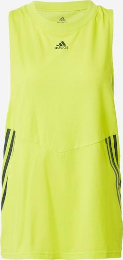 ADIDAS PERFORMANCE Top deportivo en amarillo neón / negro, Vista del producto