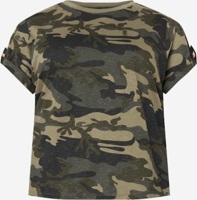 River Island Plus T-Shirt in dunkelgrau / khaki / hellgrün, Produktansicht