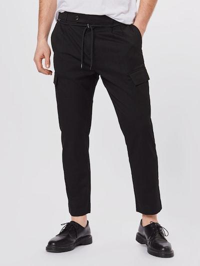 SCOTCH & SODA Cargo trousers 'TWILT' in black: Frontal view