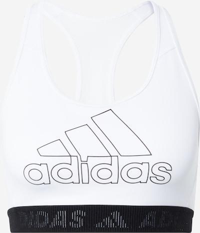 ADIDAS PERFORMANCE Sporta krūšturis melns / balts, Preces skats