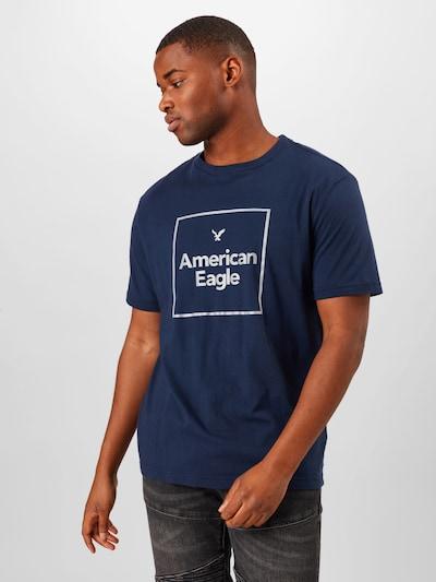 Marškinėliai iš American Eagle , spalva - tamsiai mėlyna / balta: Vaizdas iš priekio
